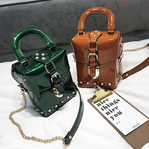 Bags - Diamond Box Handbags Mini Cube Brand Bag