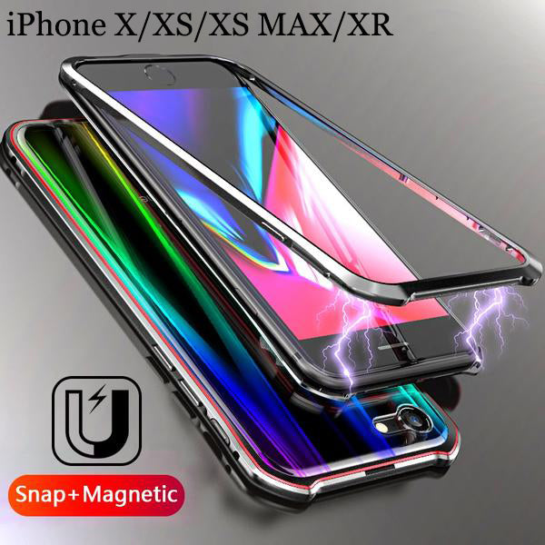 best service 2dfb1 90dea iPhone Case - Luxury Aurora Magnetic Snap Case For iPhone X Xs Mas Xr