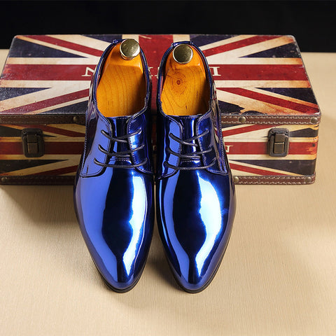 Men Shoes - Leather Vintage Oxfords Men Dress Shoes