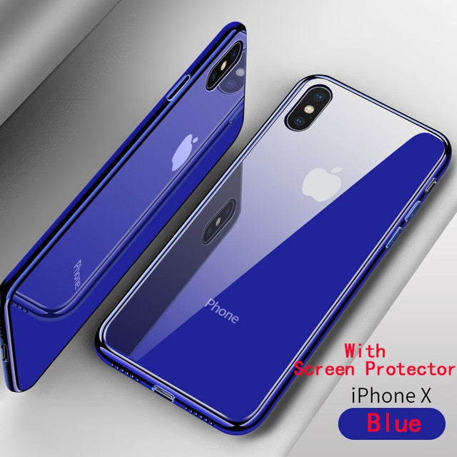 more photos 92f40 a42b6 iPhone Case - Tempered Glass Case For Apple iPhone XS Max XR