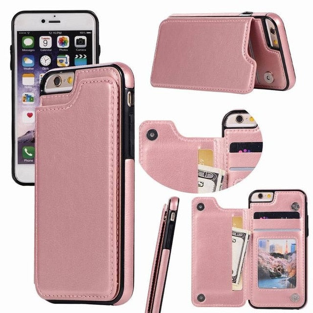 low cost fc309 5fab9 iPhone Case - Card Holder Leather Phone Wallet Case for iphone XS XS MAX XR