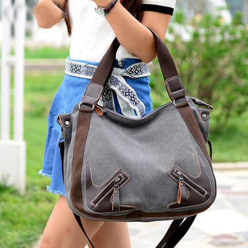 Bag - New Canvas Large Capacity Portable Travel Trend Shoulder Bag