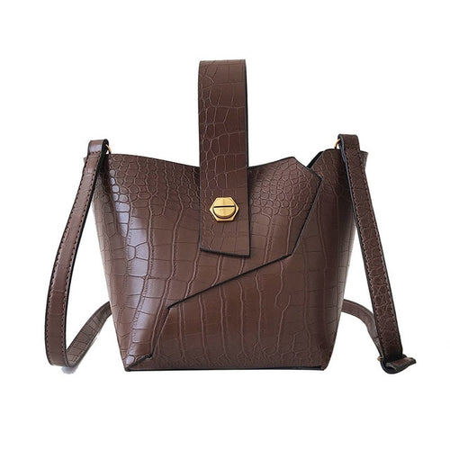 Bag - 2 Pcs/set Crocodile Pattern Bucket Bags For Women
