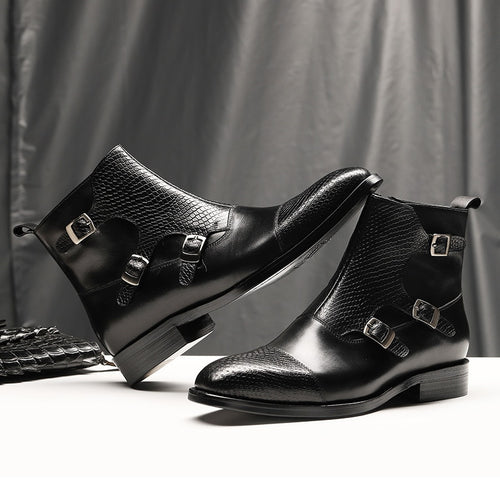 Formal Boots - Luxury Full Grain Leather Business Office Formal Boots
