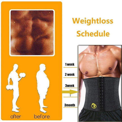 Waist Trainer - Neoprene Hot Shaper Male Waist Trainer Cincher Corset