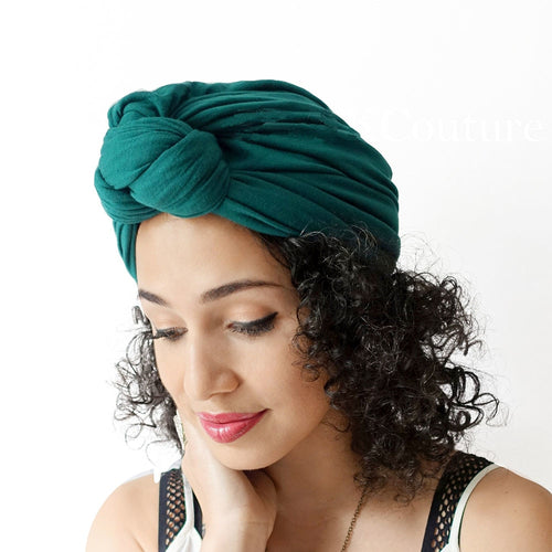 Turban - Cotton Solid Knot Headband Lady Elastic Turban Hat