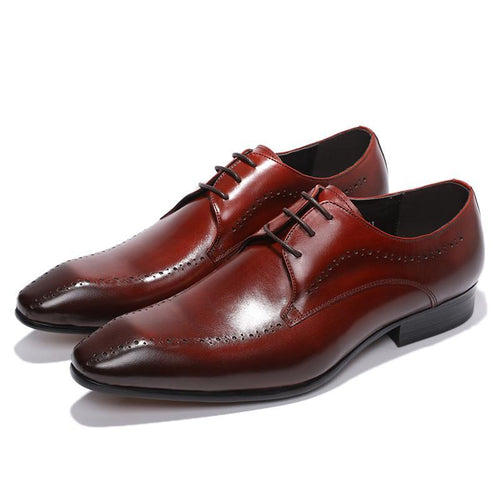 Formal Shoes - Pointed Toe Lace Up Elegant Dress Shoes
