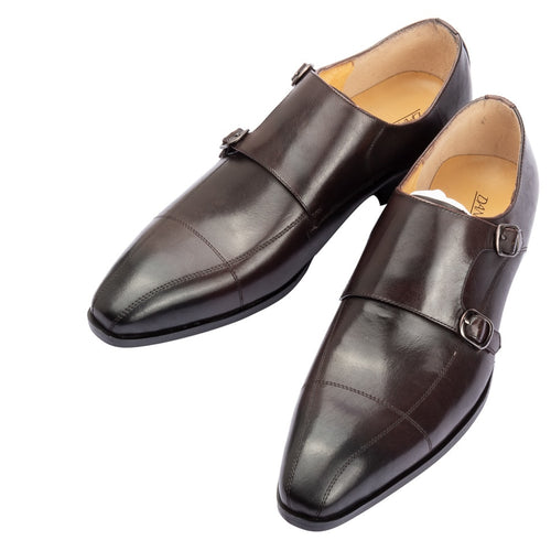 Dress Shoes - Brand Luxury Genuine Leather Monk Shoes
