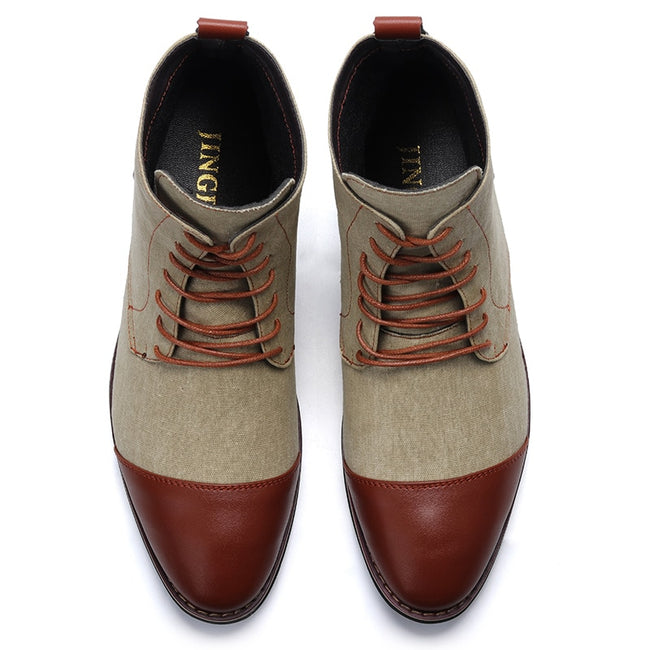 c9bee6975564a Ankle Boots - New Men Lace-up Denim Western Boots
