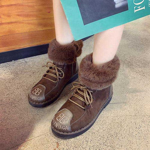 Ankle Boots - Wool Mouth Soft Bottom Korean Women Ankle Boots