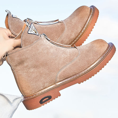 Ankle Boots - Women Genuine Leather Casual Ankle Boots