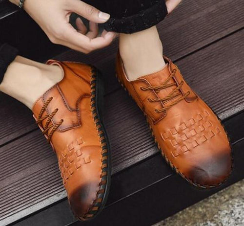 Casual Shoes - Leather Lace Up Shoes