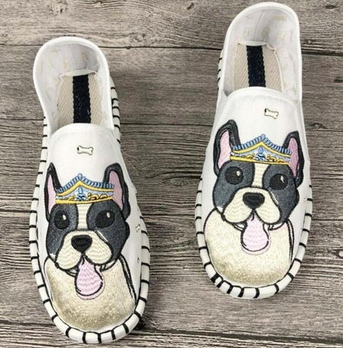 Flats - Cute Dogs Printed Canvas Shoe