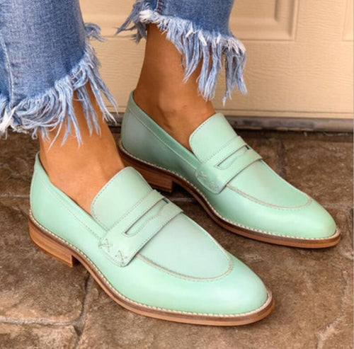 Loafers  - chunky low heels business loafers