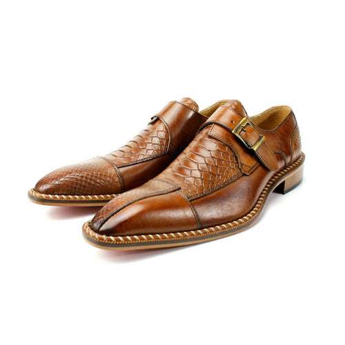 Crocodile pattern  Luxury Single Monk Dress Shoes