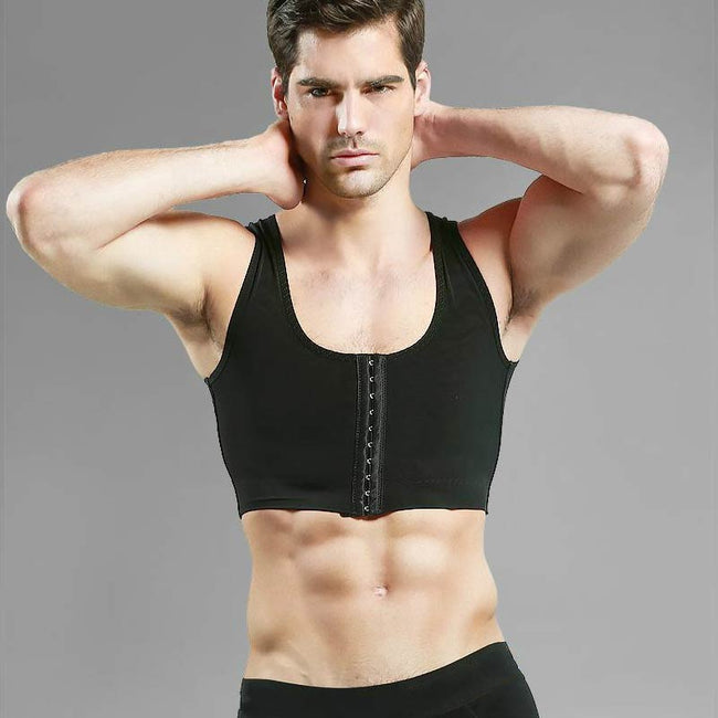 Men's Shapewear - Compression Chest Body Posture Corrector Corset Sleeveless Invisible Top Underwear