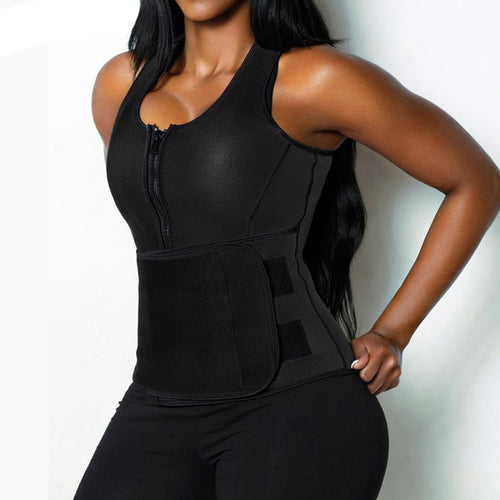 Shapewear - Hot Neoprene Waist Adjustable Vest Sauna Suit Tank