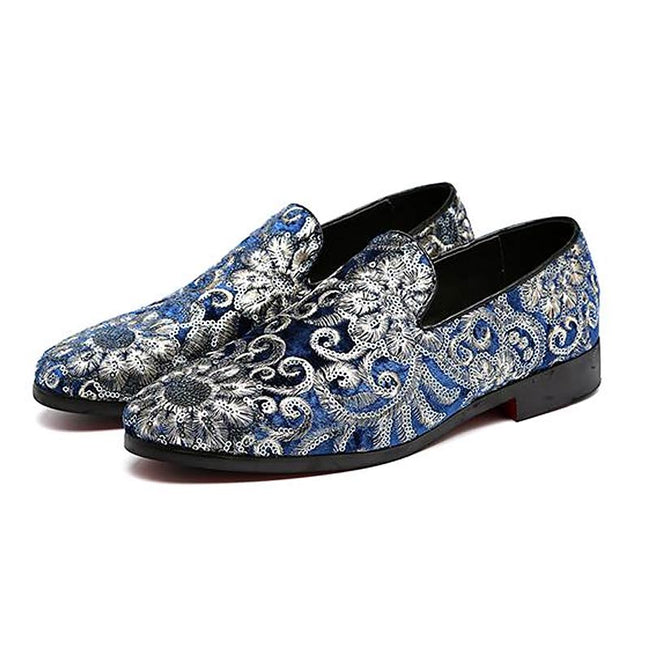 Formal Shoes - Fashion Embroidery Business Flat Shoes