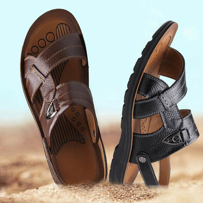 Men's Shoes - High-quality Leather Casual Beach Sandals