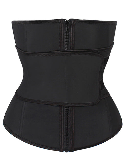 892330e2218 Extra Sexy Abdominal Belt Zipper Plus Size Latex Waist Cincher Superfit
