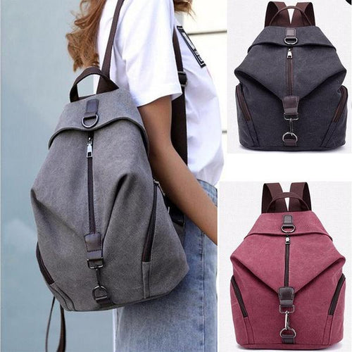 Bag - Fashion Casual Canvas Large Capacity Backpack