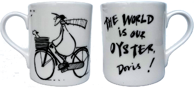 The World Is Our Oyster, Doris! Mug by Sam Toft
