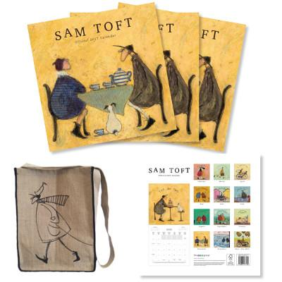 Three Official 2017 Calendars and Bag Set by Sam Toft