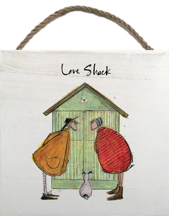 Love Shack - Wooden Block