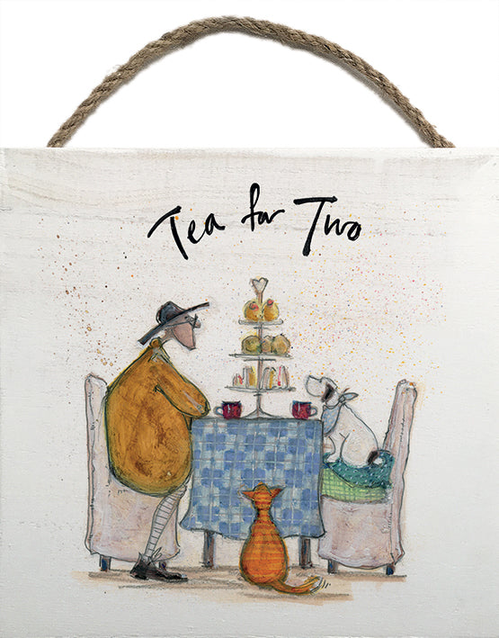 Tea for Two - Wooden Block