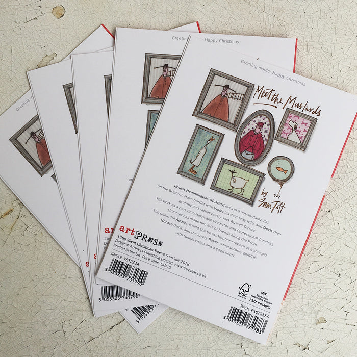 Little Silent Xmas Tree - 5 card pack