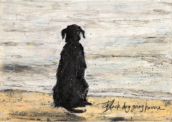 Black Dog Going Home
