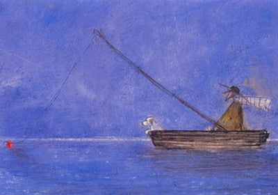 Blue Fishing by Sam Toft