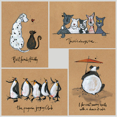 Black and White Buddies Set #2 by Sam Toft