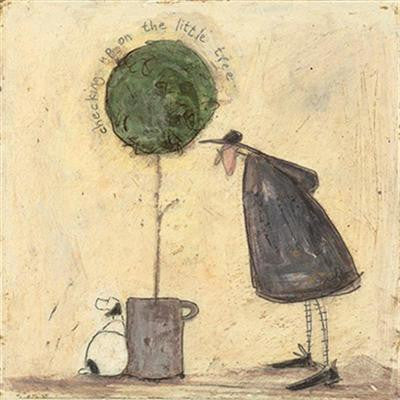 Checking Up on the Little Tree by Sam Toft