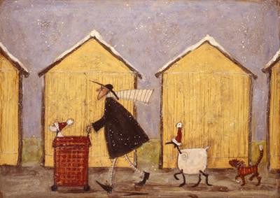 Christmas Day Walkies by Sam Toft