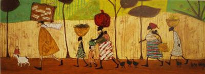 Doris Helps out on the Way to Mzuzu by Sam Toft