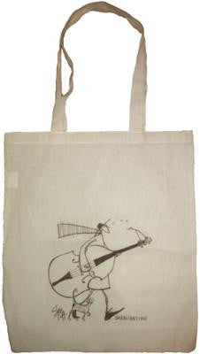 Duck Bill Bassy Puss Cotton Bag by Sam Toft