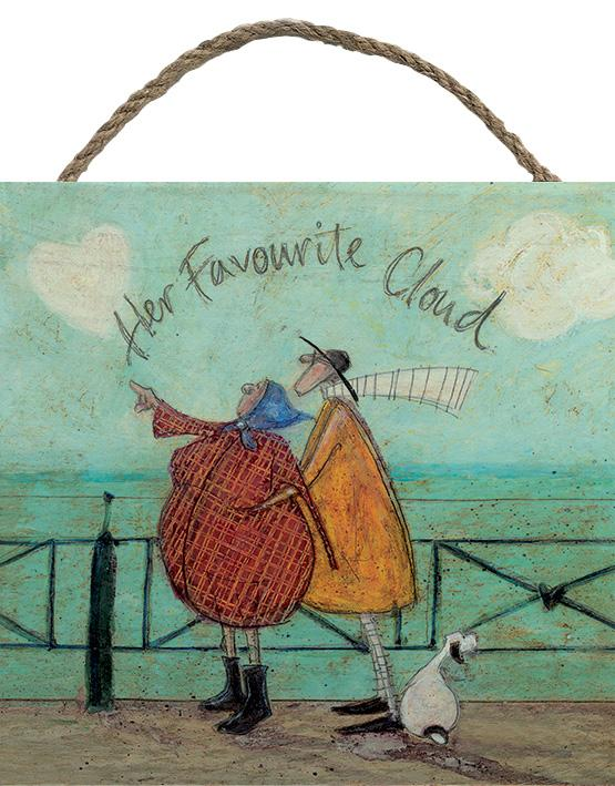 Her Favourite Cloud - Wood Print