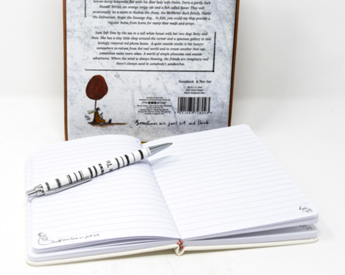 Sometimes We Just Sit And Think Large Notebook Gift Set