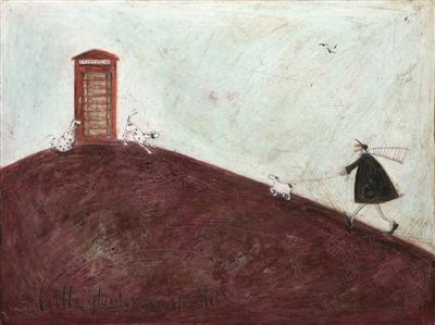 Little Phone Box on the Hill by Sam Toft