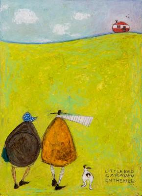 Little Red Caravan on the Hill by Sam Toft