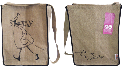 Mustard Jute Bag by Sam Toft