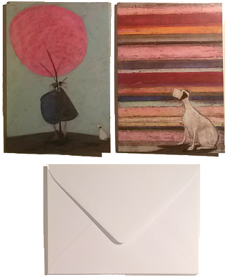 6 Mustard Note Cards & Box by Sam Toft