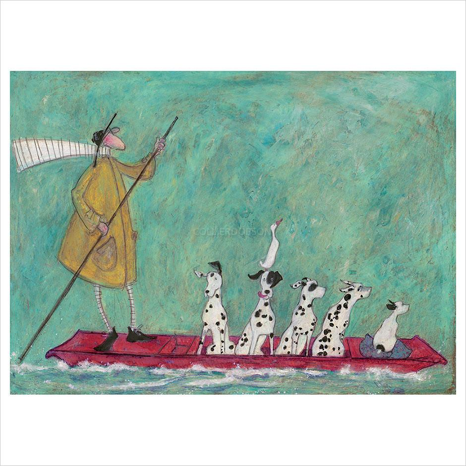 Punts Away by Sam Toft