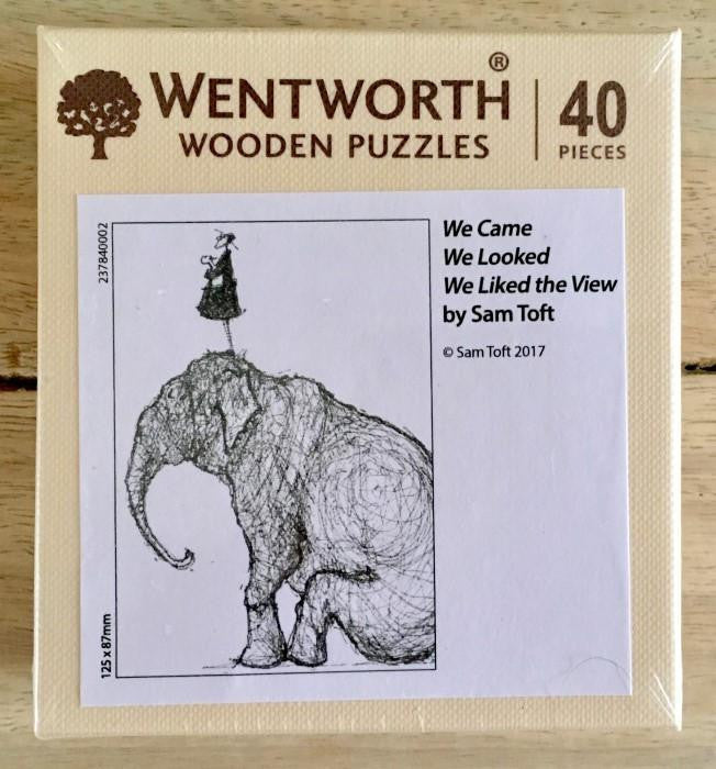 We Came, We Looked, We Liked the View Wooden Micro Puzzle
