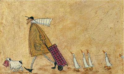 Shopping with Ducks by Sam Toft