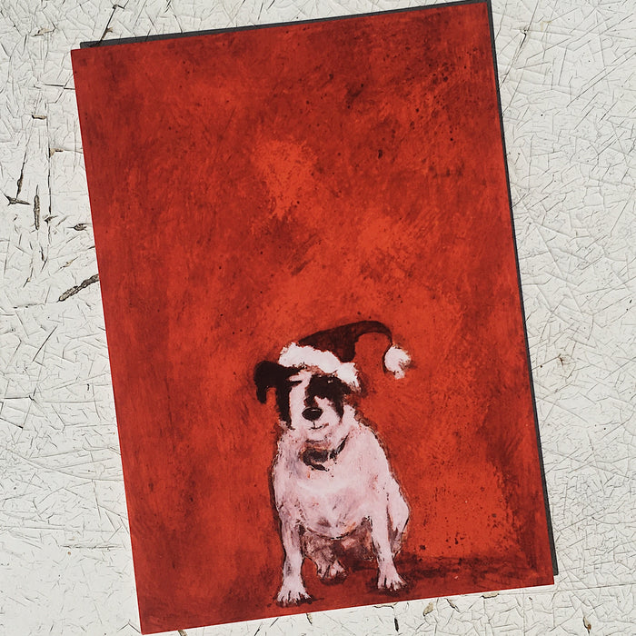Small Dog at Christmas Postcard Set