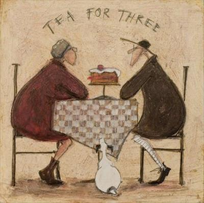Tea for Three (Plus Cake) by Sam Toft
