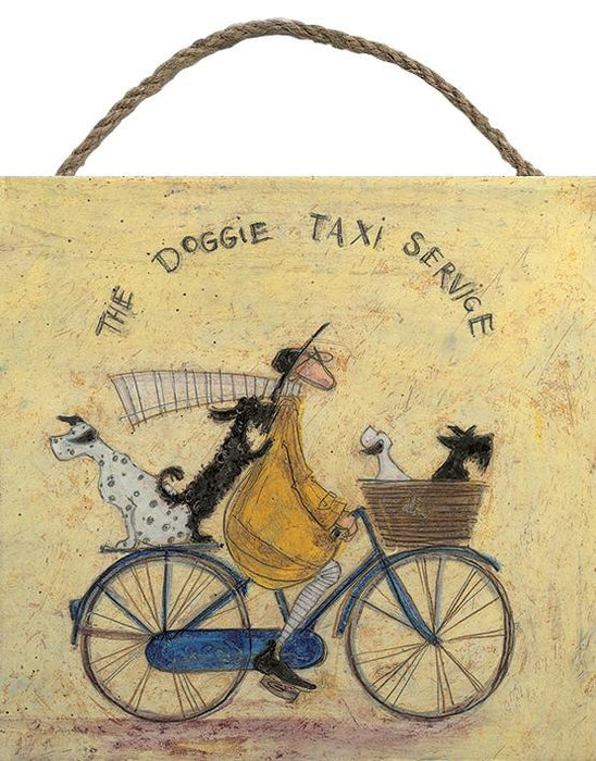 The Doggie Taxi Service - Wood Print