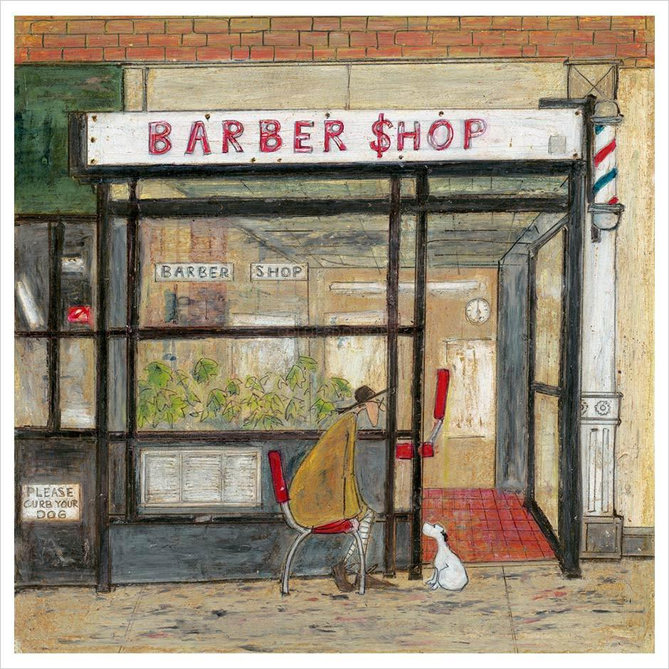 Waiting for His Short Back and Sides by Sam Toft